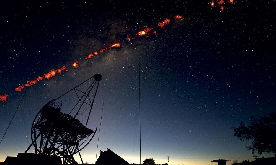 Gammastrahlenquellen der Milchstraße über HESS