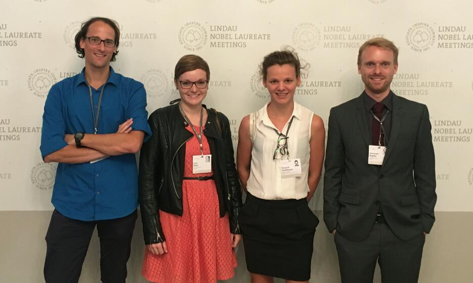 Innsbrucker WissenschaftlerInnen beim Nobelpreisträgertreffen