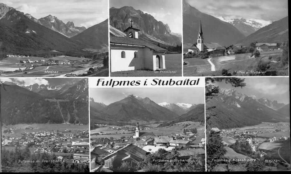 Postkarte Fulpmes im Stubaital (1961)