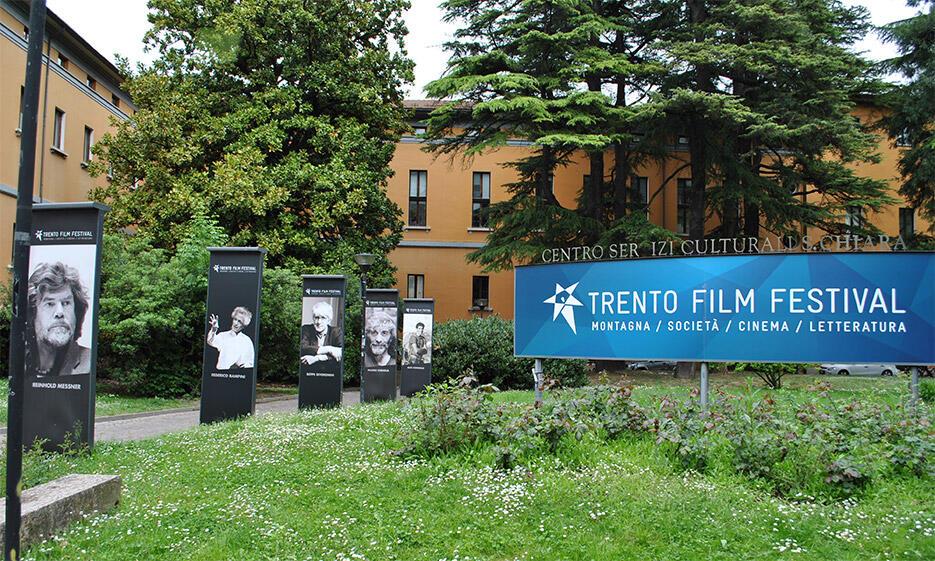 Festivalgelände beim 63. Trento Film Festival