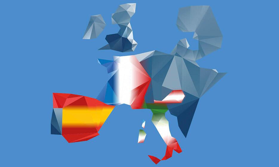 Grafik für den Europatag (abstrakte Europakarte)