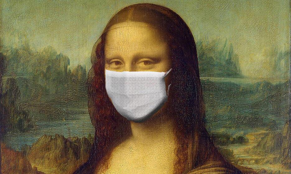 All about Corona - Mona Lisa mit Maske