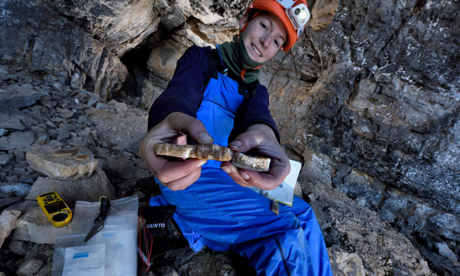 Cave scientist Gina Moseley