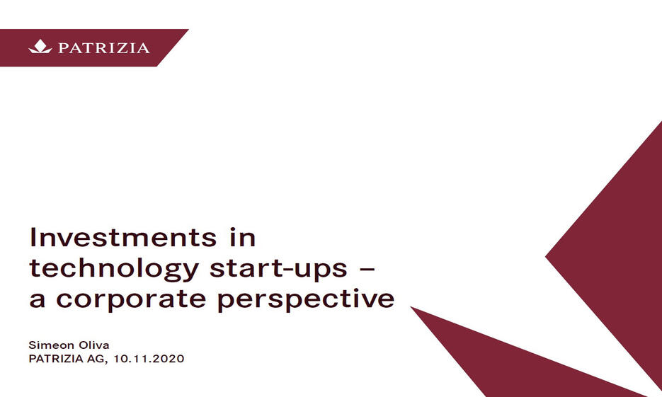 Investments in technology Start-ups – a corporate perspective