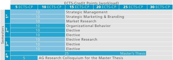 Recommended course sequence for Master in Strategic Management