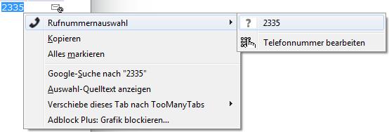 telify manuelle Nummernwahl